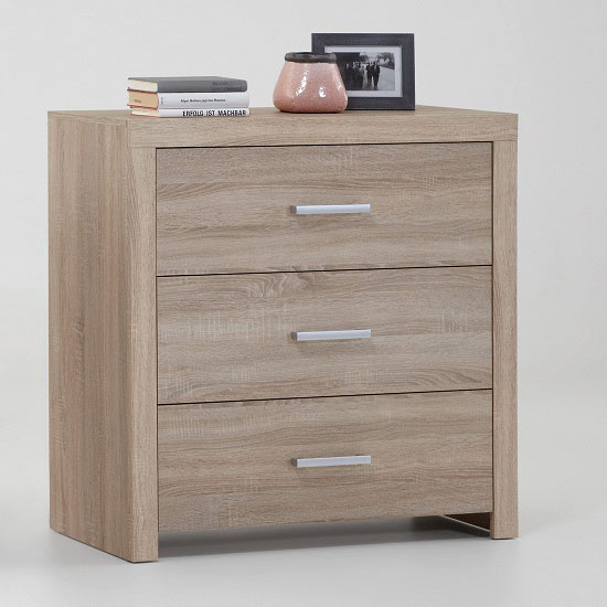 Country44 Oak Finish 3 Drawer Chest