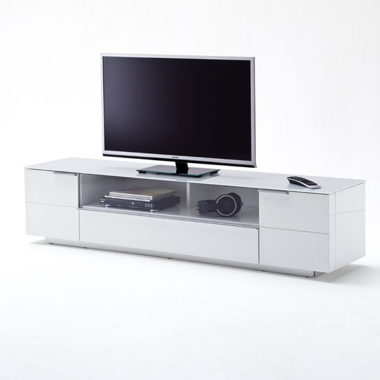 48772 CANBERRA Deko 9358 14 - Wood TV Stands With Glass Doors: A Great Fit For 4 Different Interiors