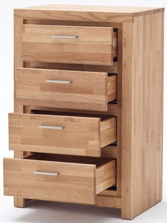 Santos Chests Of Drawers In Solid Knotty Oak With 4 Drawers