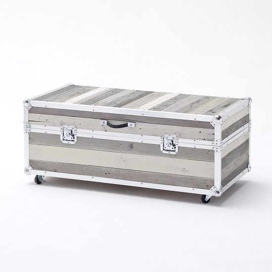 Camber Trunk Coffee Table In Grey With Aluminium Frame_1