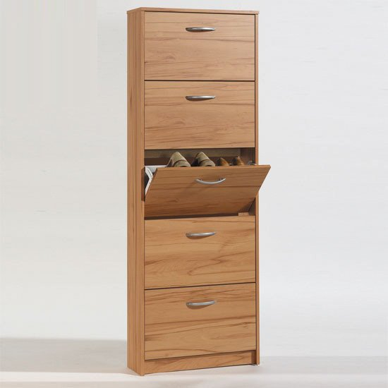 Step5 Wooden Shoe Cabinet In Beech Heartwood With 5 Drawer