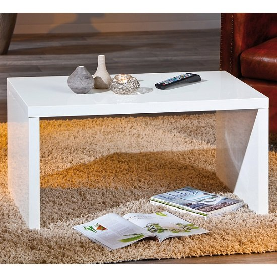 Amulet Coffee Table Rectangular In White High Gloss