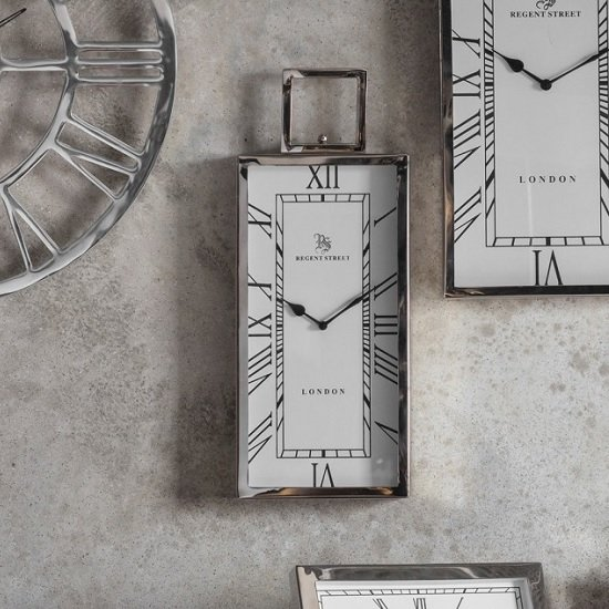 Jarvey Small Wall Clock In Polished Aluminium Frame_1