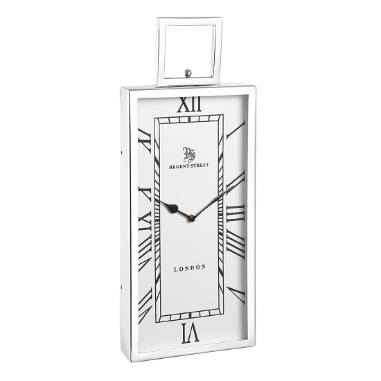 Jarvey Small Wall Clock In Polished Aluminium Frame_2