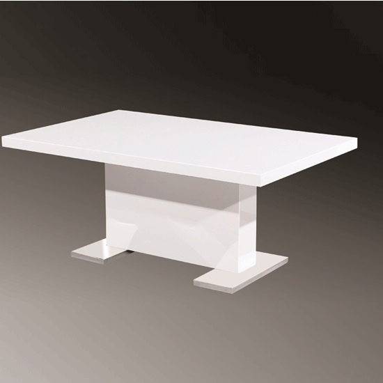 Berit Rectangular Coffee Table In High Gloss White 25207 Fur