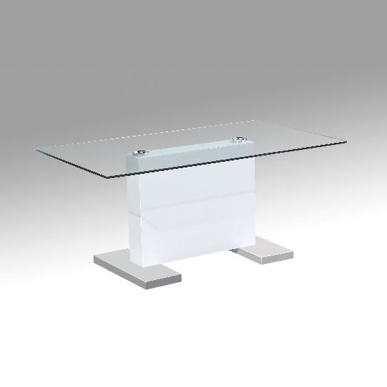 Metro High Gloss Coffee Table White: High Gloss Coffee Tables