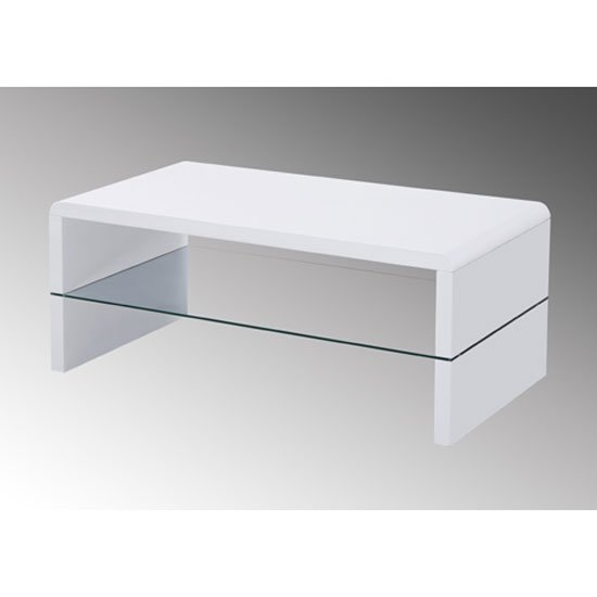 Rectangle High Gloss White Coffee Table With Led Lighting: Step High Gloss Plasma Tv Cabinet With Multi Led Lights