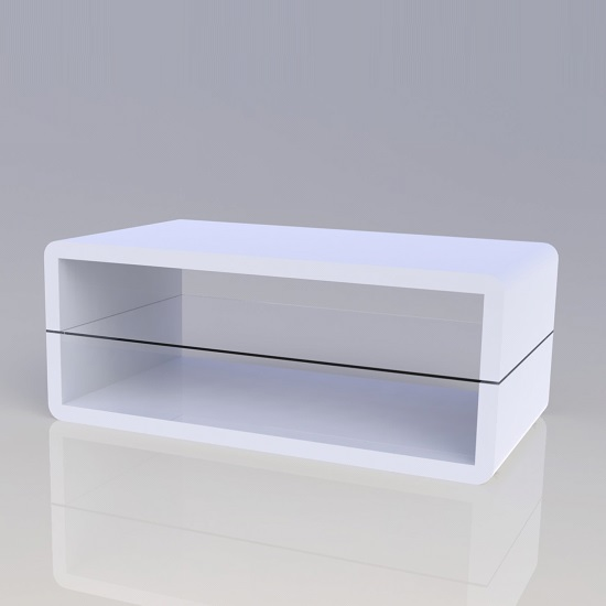 Metro High Gloss Coffee Table White: High Gloss Coffee Tables, Black, White, Furnitureinfashion UK