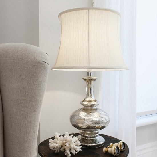 Minx Table Lamp With Fluted Cream Drum Shade_1