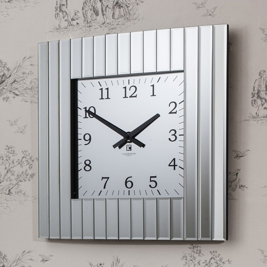 Dubbin Wall Clock With Beveled Mirror Frame