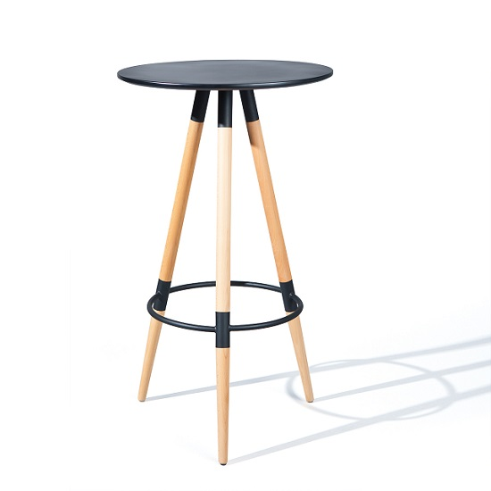 Palzo bar table in sanoma oak with chrome legs 25604 furnitu - Table haute exterieure ...