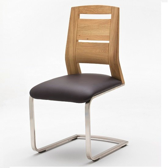 alamona 1 dining chair in truffle faux leather alamona 1 dining chair