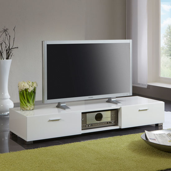 51303N gloss white low tv stand - How To Furnish My Home