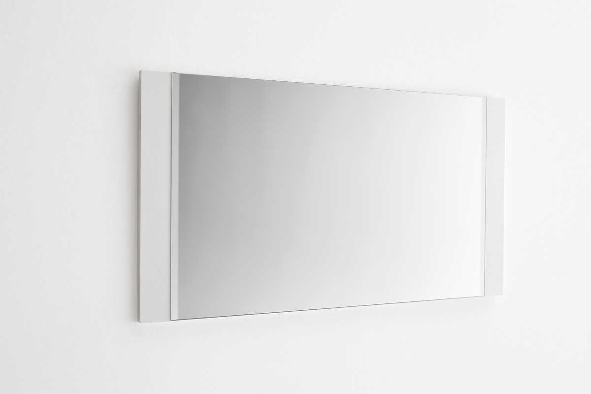 Odessa hallway white gloss wall mirror 20229 furniture in for White mirror