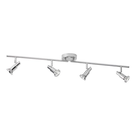 Torch Chrome Four Adjustable Bar Spotlight