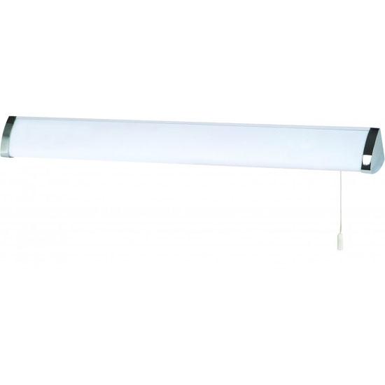 Photo of Bathroom 1 lamp white chrome ring flush wall bracket