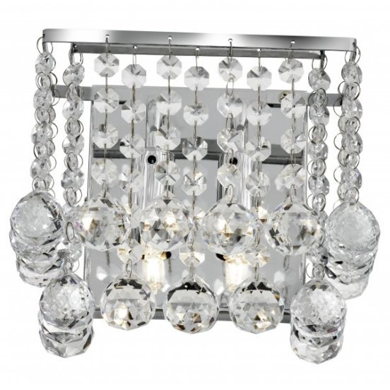 Read more about Hanna 2 lamp wall light finished in polished chrome