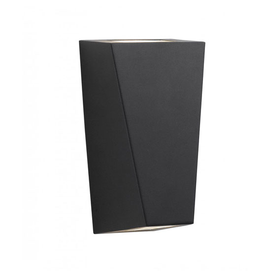 Black Aluminium Outdoor Wall Lamp With Up and Down Light
