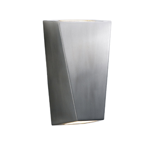 Satin Silver Aluminium Outdoor Wall Lamp With Up and Down Light