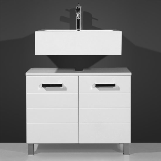 Elegance White Bathroom Vanity without Wash Basin
