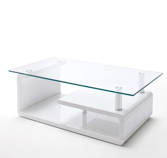 Tim Clear Glass Coffee Table With High Gloss White Base: Fiesta Lcd TV Stand In High Gloss White With LED Light