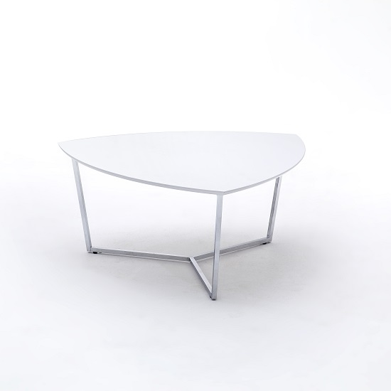 Banham Coffee Table Wide In High Gloss White With Chrome Legs_2