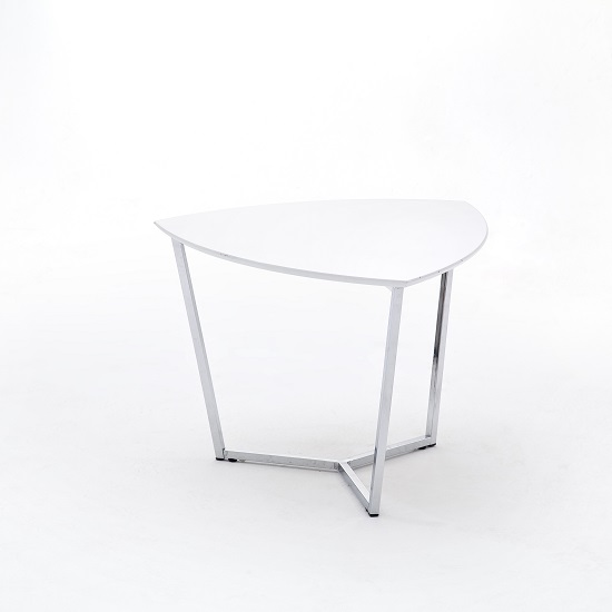 Banham Coffee Table In High Gloss White With Chrome Legs_2