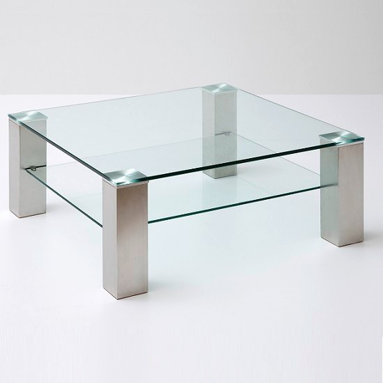 Aston Glass Coffee Table Square In Clear With Metal Legs_2