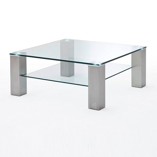 Aston Glass Coffee Table Square In Clear With Metal Legs_3
