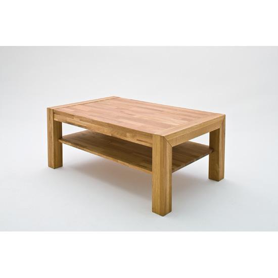 Piere Oak Rectangle Coffee Table With Undershelf
