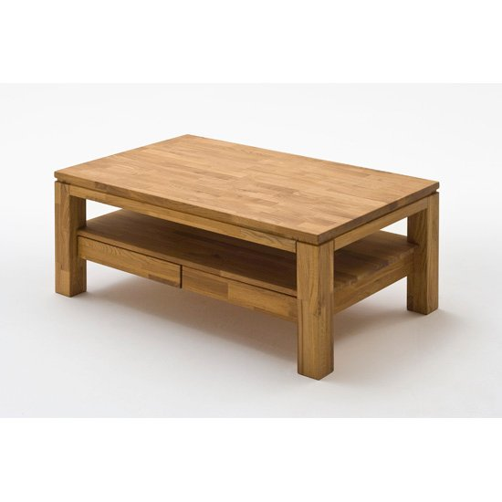 Gordon Dark Oak Rectangle Coffee Table With 2 Drawers 19918