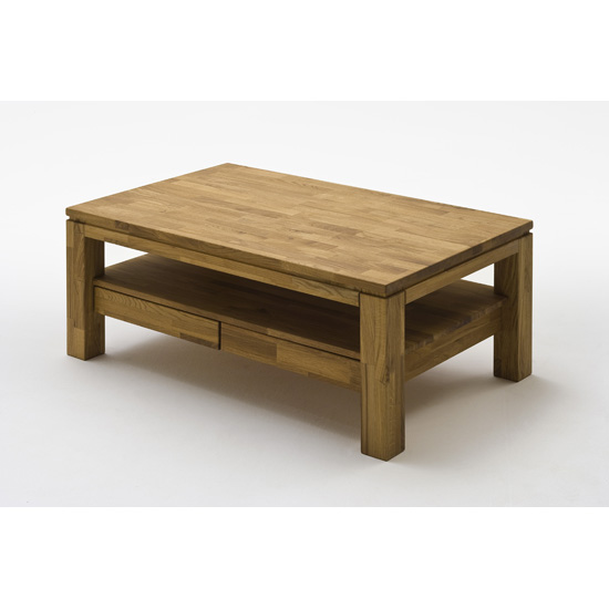Gordon Wooden Storage Coffee Table Rectangular In Knotty oak