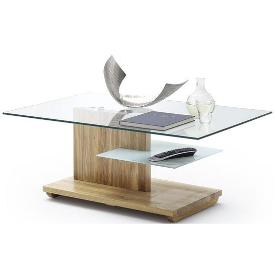 Lasse Glass Coffee Table And Bianco Oak