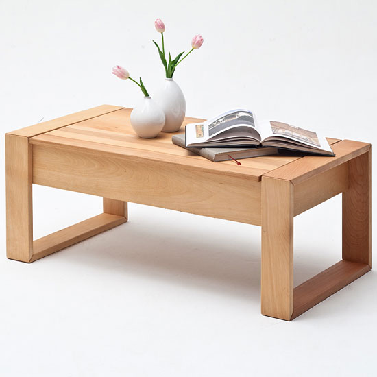 Victor Coffee Table In Core Beech With Lift Function_1