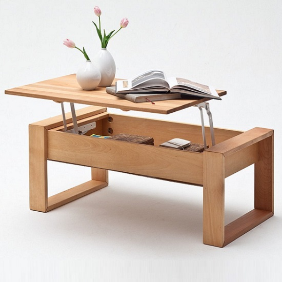 Victor Coffee Table In Core Beech With Lift Function_2