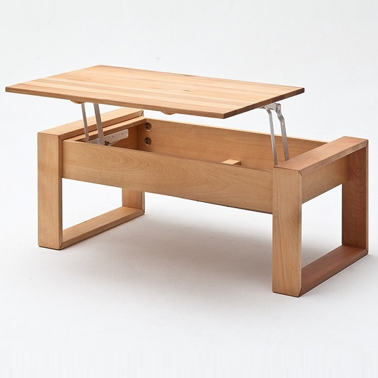 Victor Coffee Table In Core Beech With Lift Function_3