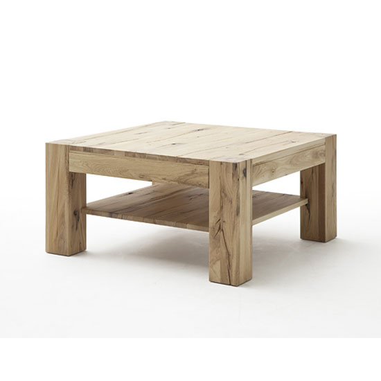 Lennox Wooden Coffee Table Square In Wild Oak