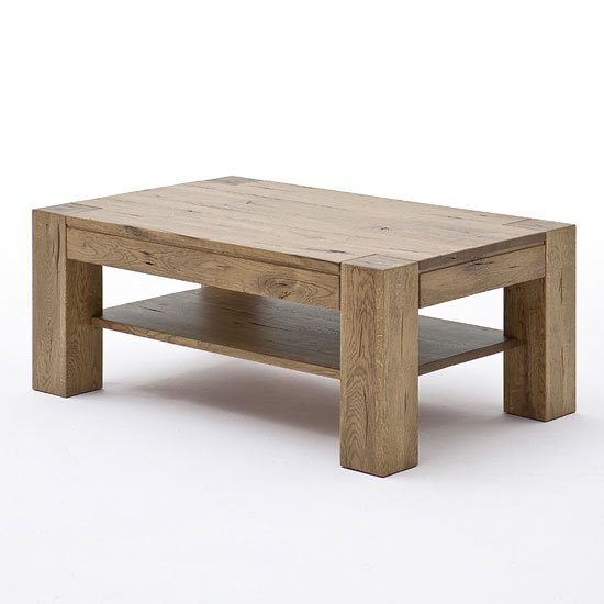 Lennox Wooden Coffee Table Rectangular In Bassano Oak