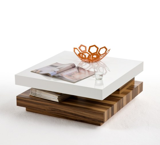 Elisa Coffee Table Square In High Gloss White With Storage: Nevada Gloss Baltimore Walnut & White Entertainment Stand