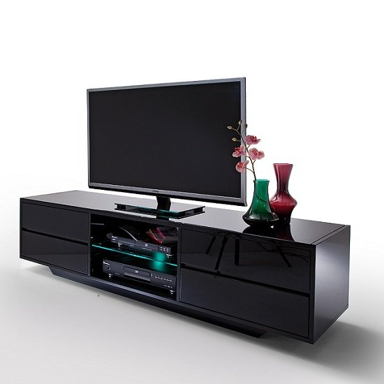 Sienna TV Stand In Black High Gloss With Multi LED Lighting_4