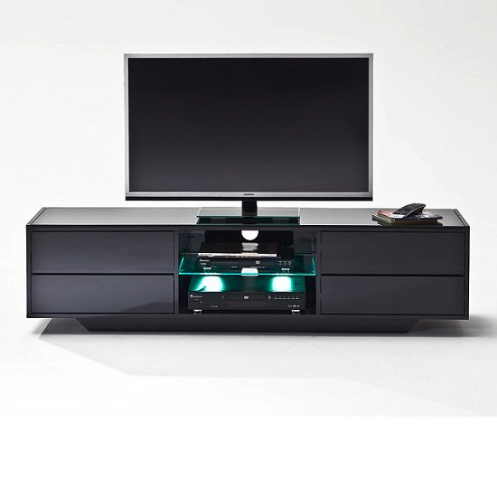 Sienna TV Stand In Black High Gloss With Multi LED Lighting_5