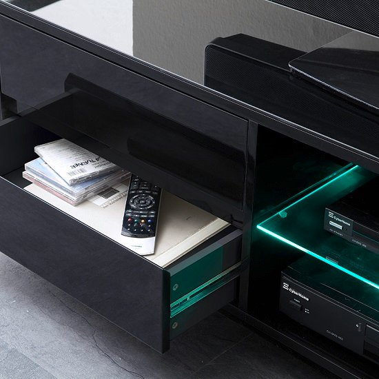 Sienna TV Stand In Black High Gloss With Multi LED Lighting_9