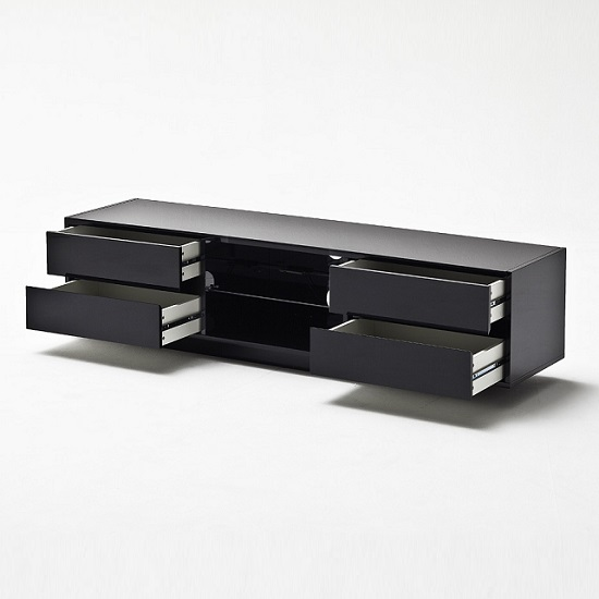 Sienna TV Stand In Black High Gloss With Multi LED Lighting_3