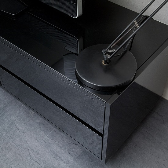 Sienna TV Stand In Black High Gloss With Multi LED Lighting_10