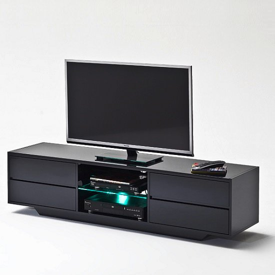 Sienna TV Stand In Black High Gloss With Multi LED Lighting_2