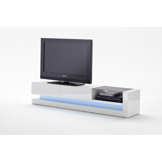 Twist High Gloss Plasma Tv Cabinet With Multi Led Lights