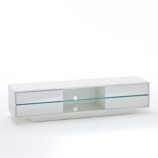 Sienna TV Stand Unit In High Gloss White With Multi Led Lights_10