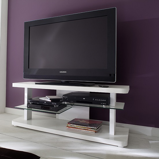 59078%20CULT%20Milieu - White TV Stand With Glass Doors: Base Materials To Choose From