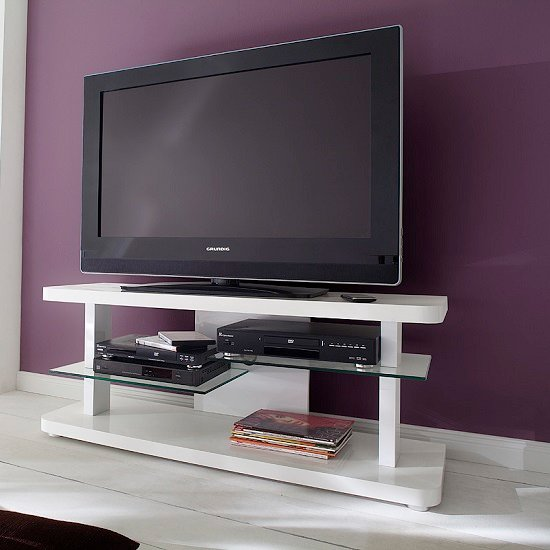 White TV Stand With Glass Doors: Base Materials To Choose From