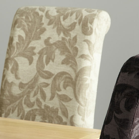 Ameera Dining Chair In Floral Sage Fabric And Oak in A Pair_8